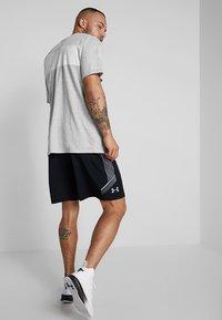 Fila - AKI LOGO TEE - T-shirt print - light grey melange/bright white - 2