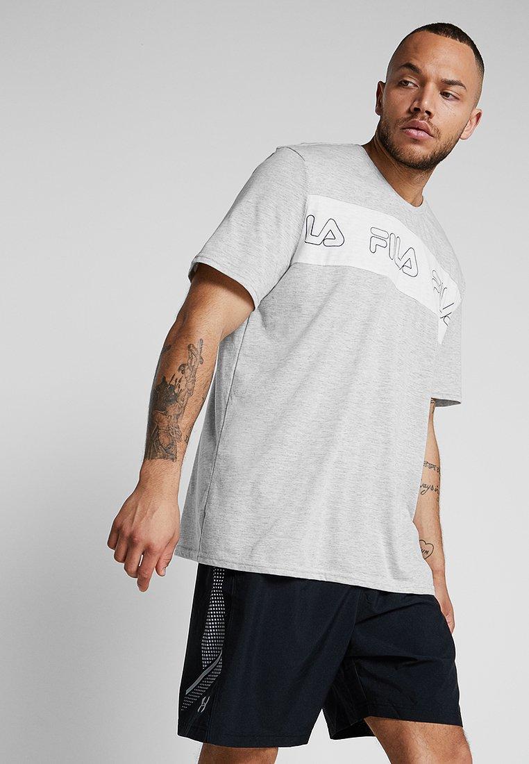 Fila - AKI LOGO TEE - T-shirt print - light grey melange/bright white