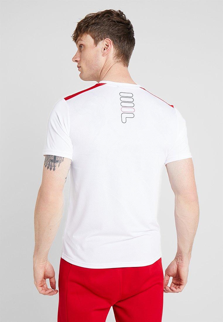 Fila EROL TEE - T-shirt imprimé bright white/true red