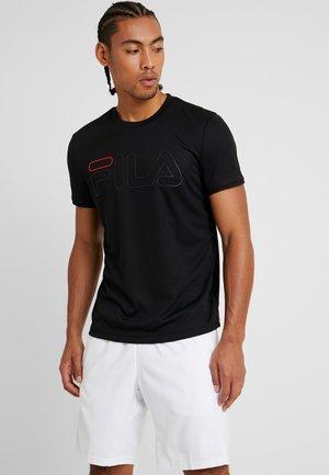 TILL - T-shirt med print - black