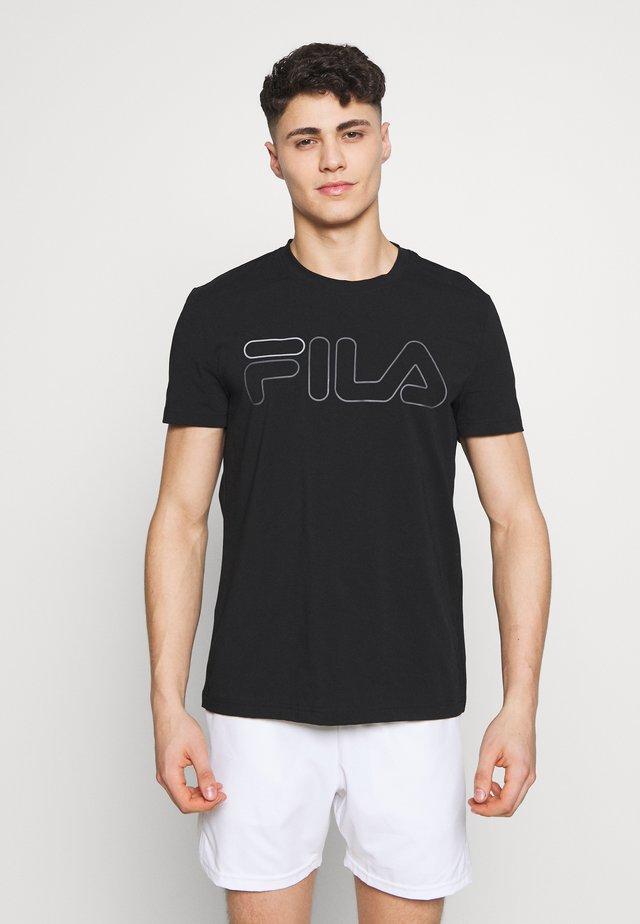 RICKI - T-shirt med print - black