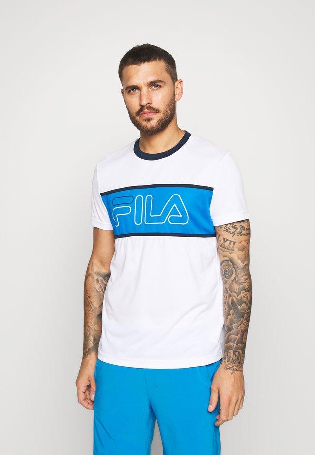 CONNOR - T-Shirt print - white/simply blue