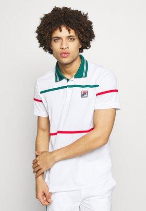 ALLAN - Polo - white/pacific
