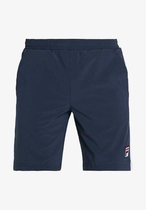 SHORT  - Sports shorts - peacoat blue/white