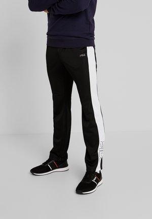 SENN - Teplákové kalhoty - black/bright white