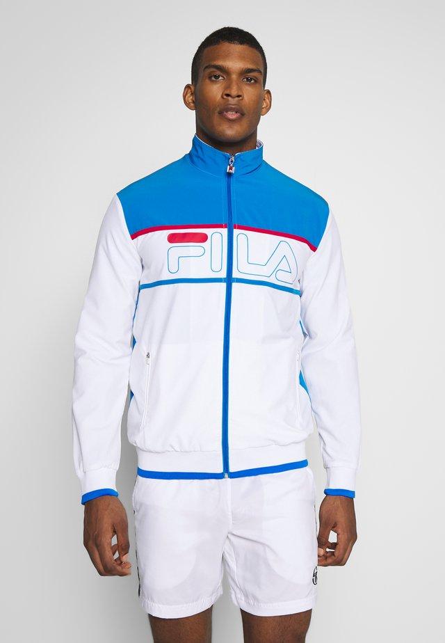JACKET FRANKIE - Trainingsjacke - white/simply blue