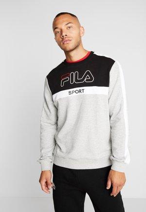 WORD - Sweatshirt - black/light grey melange bros/bright white