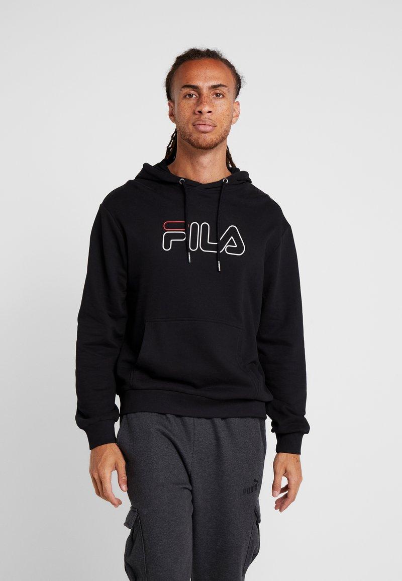 Fila - LABAN - Bluza z kapturem - black