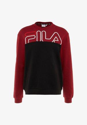Sweatshirt - rhubarb/black