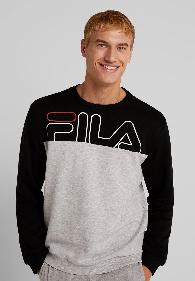 Fila - Sweater - black/light grey melange bros