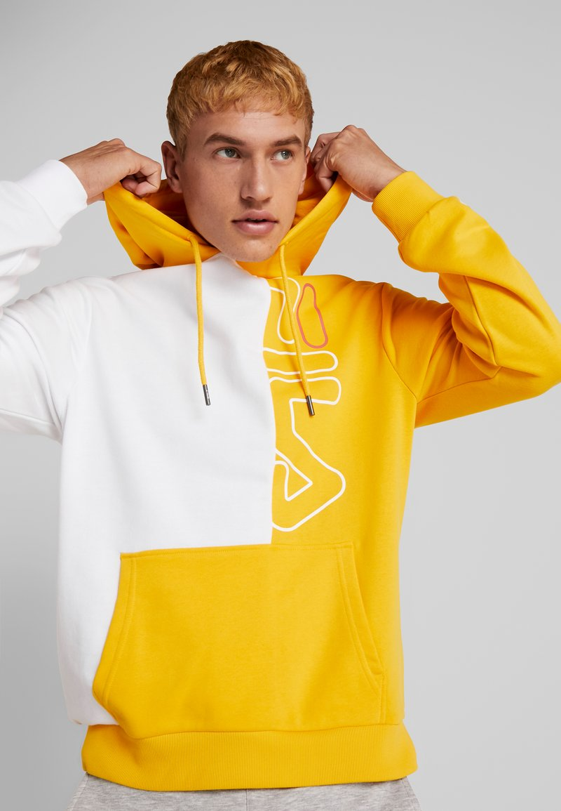 Fila - MERT HOODY - Hoodie - citrus/right white