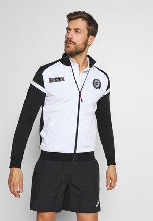 SMUDO - Zip-up hoodie - black/white