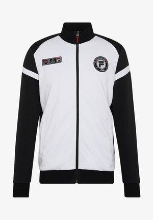 SMUDO - veste en sweat zippée - black/white