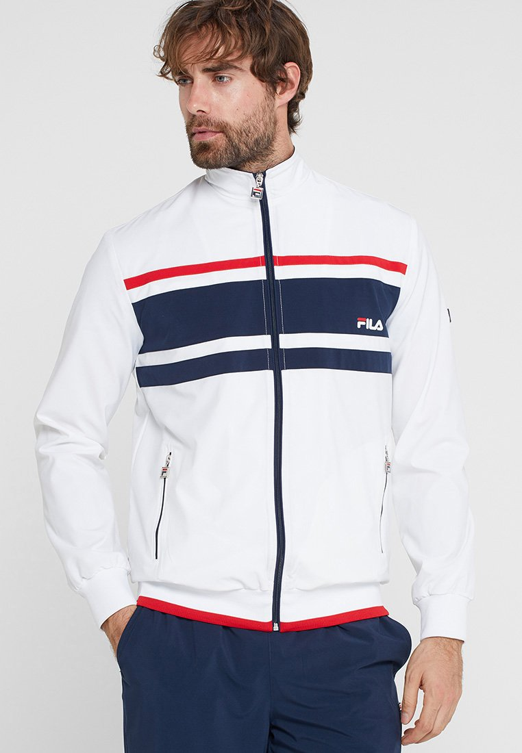 Fila - SUIT THEO - Trainingsanzug - white/peacoat blue/red