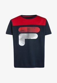 Fila - TIM - Camiseta estampada - peacoat blue/red - 0