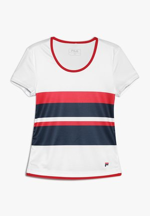 SAMIRA GIRLS - T-shirts med print - white/peacoat blue/fila red
