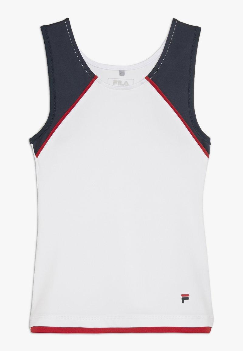 Fila - THEKLA - Toppe - white/peacoat blue/red