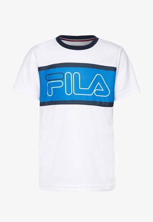 CONNOR BOYS - T-shirt imprimé - white/simply blue