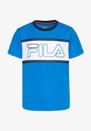 CONNOR BOYS - T-shirt imprimé - simply blue/white