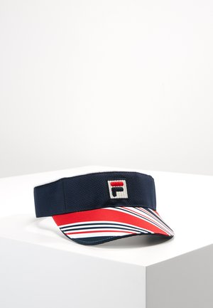 VUCKOMIC - Cap - peacoat blue/fila red