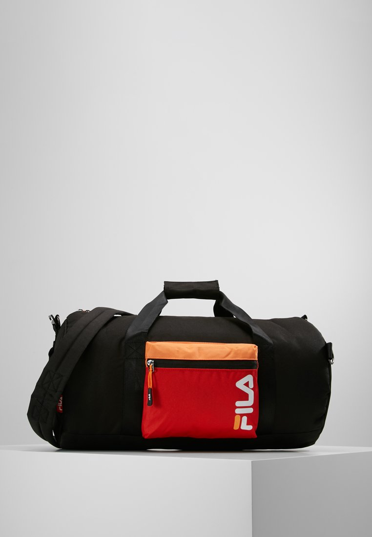 Fila - BARREL BAG - Reisetasche - black/fiery red