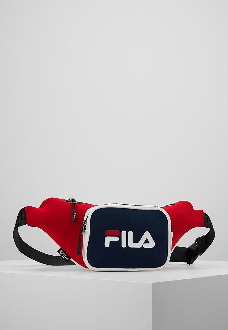 Fila - WAIST BAG - Bum bag - black iris/true red/bright white