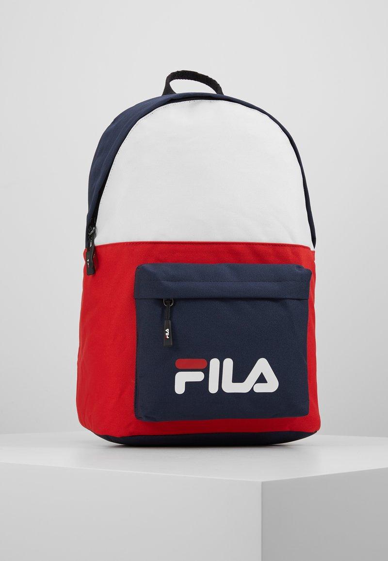 Fila - NEW BACKPACK SCOOL TWO - Batoh - black iris/true red/bright white