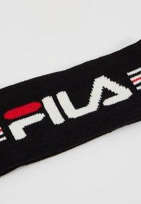 Fila - INTARSIA HEADBAND - Pipo - black/bright white(true red - 5