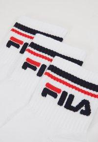 Fila - UNISEX PLAIN QUARTER 6 PACK - Ponožky - white - 2