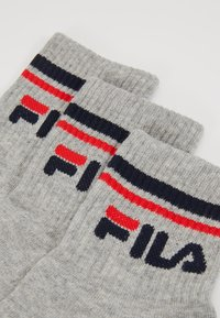 Fila - UNISEX PLAIN QUARTER 6Pack - Ponožky - grey - 2
