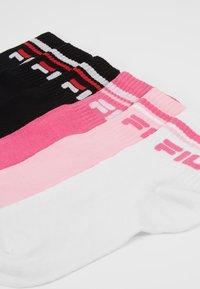 Fila - UNISEX PLAIN QUARTER 6 PACK - Sokken - pink lady/black - 2