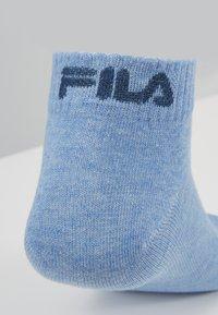 Fila - QUARTER PLAIN SOCKS 7 PACK - Socks - new sky/black - 3