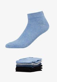 Fila - QUARTER PLAIN SOCKS 7 PACK - Socks - new sky/black - 1