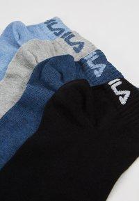 Fila - QUARTER PLAIN SOCKS 7 PACK - Socks - new sky/black - 2