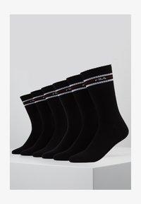 Fila - LIFESTYLE PLAIN SOCKS 6 PACK - Ponožky - black - 1