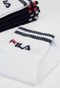 Fila - QUARTER SOCKS WITH SHINY DESIGN 3PACK - Calze - white/navy - 2
