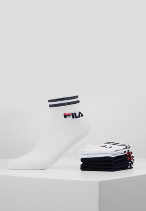 QUARTER SOCKS WITH SHINY DESIGN 3PACK - Ponožky - white/navy