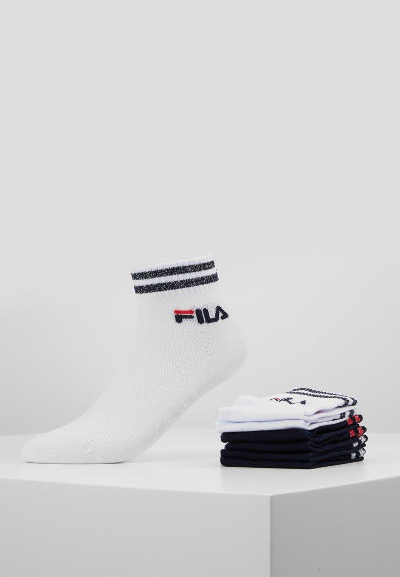 Fila - QUARTER SOCKS WITH SHINY DESIGN 3PACK - Calze - white/navy