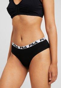 Fila - REGULAR WAIST WOMAN PANTIES 2 PACK - Slip - black - 0