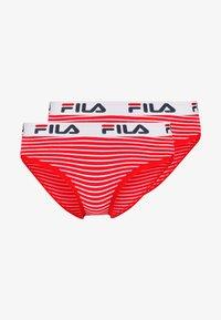Fila - REGULAR WAIST WOMAN 2 PACK - Slip - red - 4