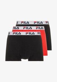 Fila - 3 PACK TRUNK - Pants - red/black - 3