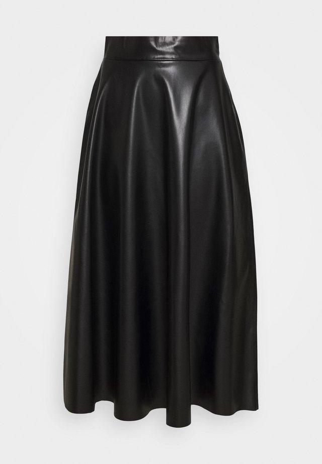MARILIN - Áčková sukně - black