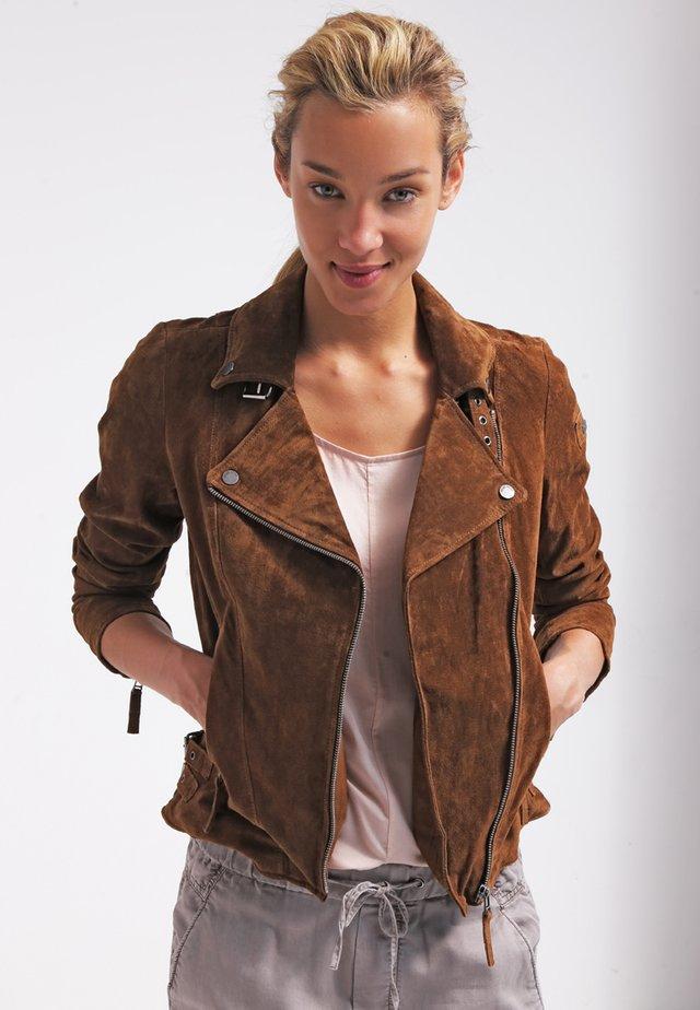 TAXI DRIVER - Leather jacket - cognac