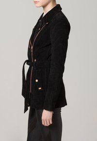 Freaky Nation - MODERN TIMES - Leather jacket - black - 2