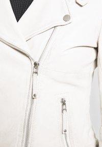 Freaky Nation - BIKER PRINCESS - Veste en cuir - white - 5