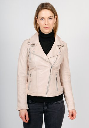 BIKER PRINCESS - Leather jacket - beige