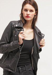 Freaky Nation - BIKER PRINCESS - Leather jacket - shadow - 3
