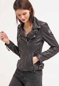 Freaky Nation - BIKER PRINCESS - Leather jacket - shadow - 0