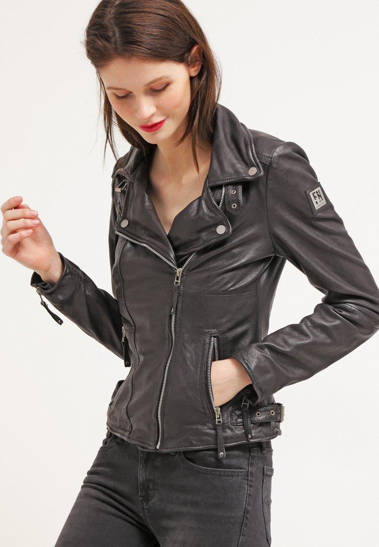 Freaky Nation - BIKER PRINCESS - Leather jacket - shadow