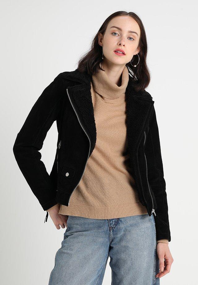 TEDDYGIRL - Veste en cuir - black